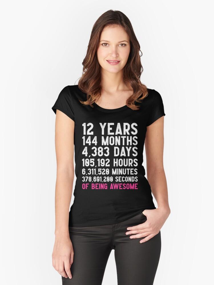 Mädchen 12. Geburtstag Countdown T-Shirt Lustiges Geschenk ...