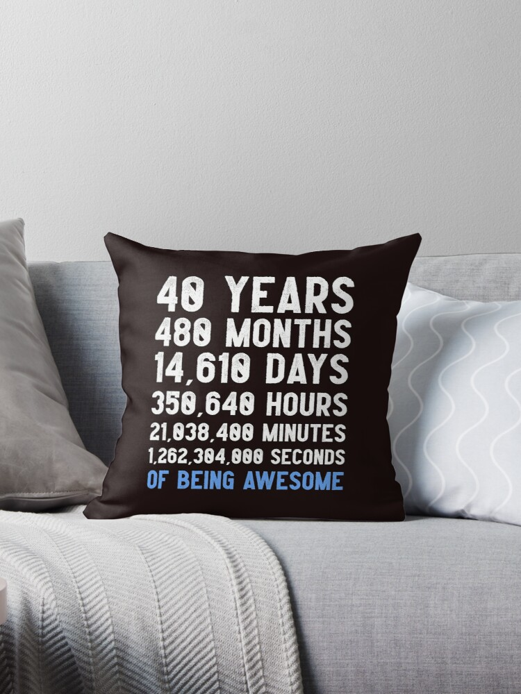 Mens 40th Birthday Countdown T Shirt Funny Gift 40 Year Old For Men