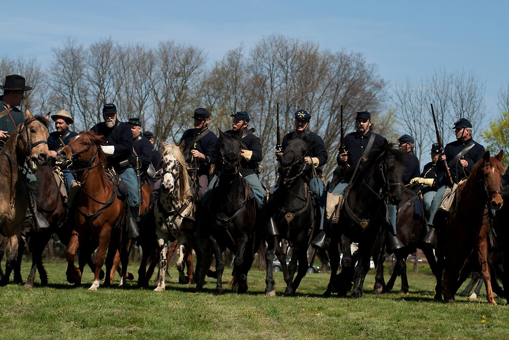 civil war re-enactment by rightphoto