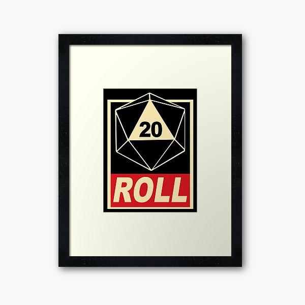 d20Roll Framed Art Print