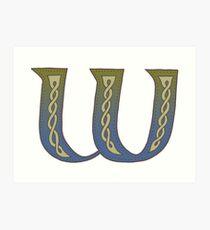 Celtic Knotwork Alphabet - Letter W Art Print