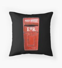 Post Office Box, Post, old, Antigua, Caribbean Throw Pillow
