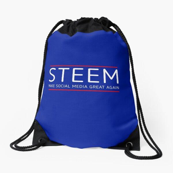 STEEM - MAKE SOCIAL MEDIA GREAT AGAIN Drawstring Bag