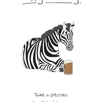 Happy Birthday - Zebra by maxhornewood
