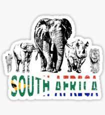Africa's Big Five for South Africa Fans Sticker