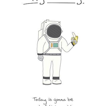Birthday Card - Astronaut by maxhornewood