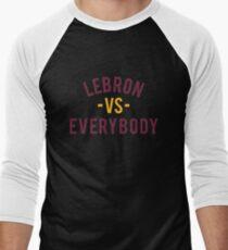 LeBron VS Everybody | Wine & Gold Men's Baseball ¾ T-Shirt