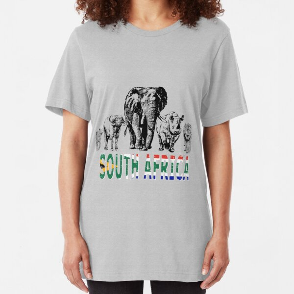Africa's Big Five for South Africa Fans Slim Fit T-Shirt