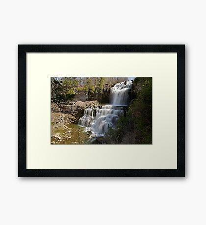 An Overview - Chittenango Falls Framed Print