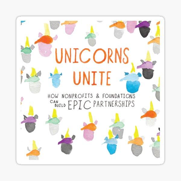 Unicorns Unite Epic Cover Sticker