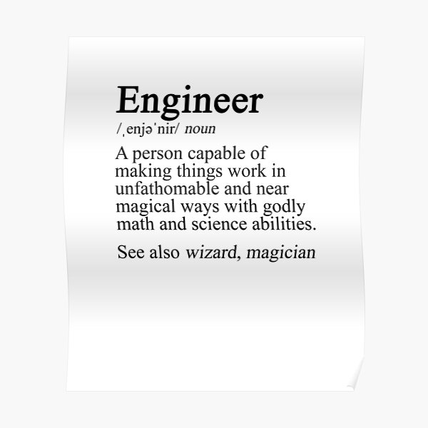 Engineer Definition Poster
