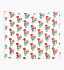 Famous Rooster #01 - Floral Edition Wall Tapestry
