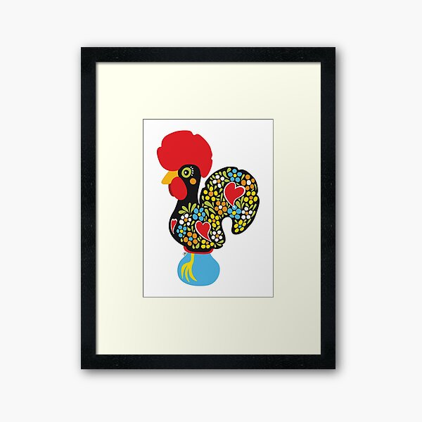 Famous Rooster #01 Framed Art Print