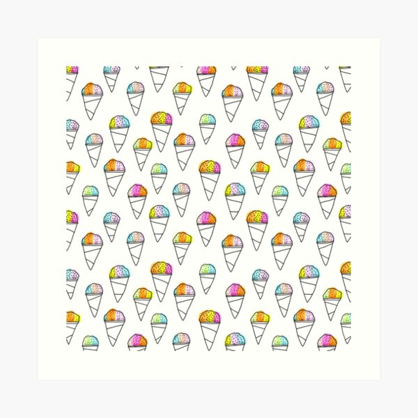 Sno-Cone Summer! Art Print