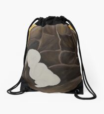 Life in your hand Drawstring Bag