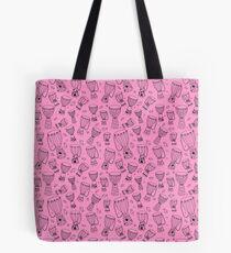 African djembe drum pattern - black/pink Tote Bag