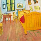 'The Bedroom in Arles, Saint Remy' by Vincent Van Gogh (Reproduction) by Roz Abellera Art Gallery