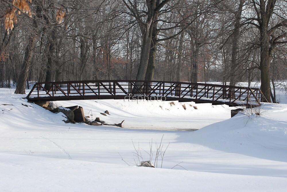 Snowbound Rock River by rfsphoto