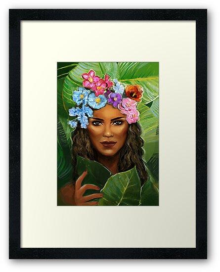 Tropical Girl sticker by zummi