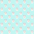 «Suerte feliz patrón de gato japonés» de EuGeniaArt