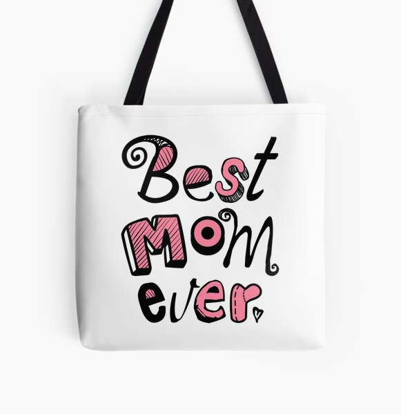 Best Mom Ever Nr. 01 - Text Art All Over Print Tote Bag