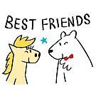 Best Friends by bonniepangart