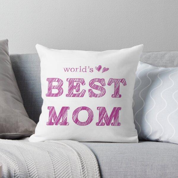 World's Best Mom Text Design Nr. 02 Throw Pillow