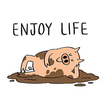 Disfruta la vida de bonniepangart