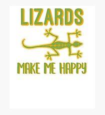Lizards Make Me Happy Photographic Print