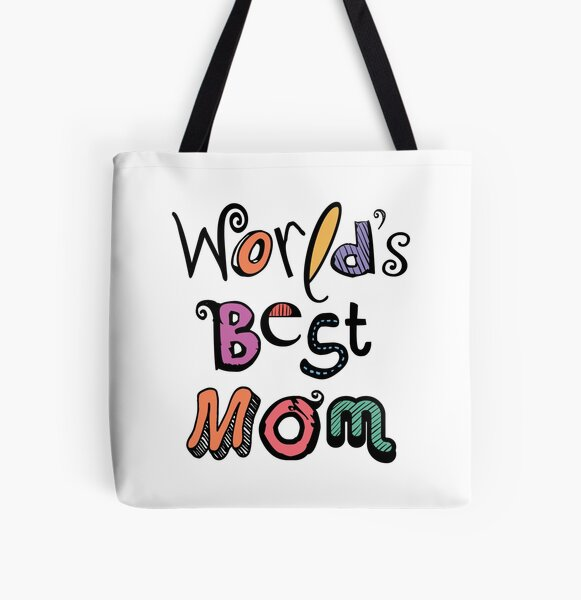 World's Best Mom Text Design #01 All Over Print Tote Bag
