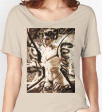 Rebel model steph art4 Women's Relaxed Fit T-Shirt