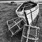 Lindisfarne & Lobster Pots by David Lewins
