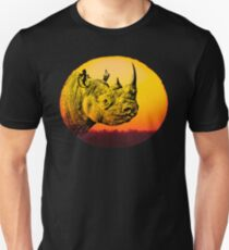 Rhino at Sunset Design for Save Rhino Supporters Unisex T-Shirt