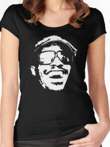 stencil Stevie Wonder Women's Fitted Scoop T-Shirt