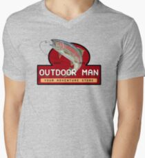 Outdoor Man Mug, Shirts etc. (Last Man Standing) Men's V-Neck T-Shirt