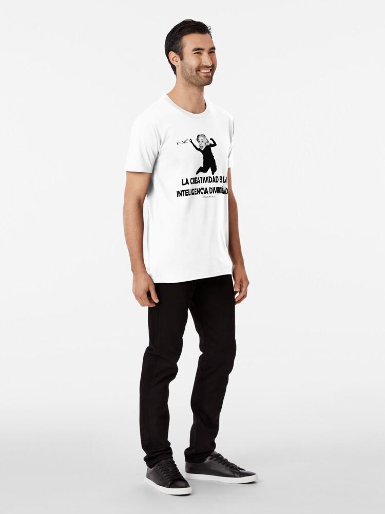 Vista alternativa de Camiseta premium EINSTEIN: LA CREATIVIDAD ES LA INTELIGENCIA DIVIRTIENDOSE