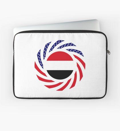 Yemeni American Multinational Patriot Flag Series Laptop Sleeve