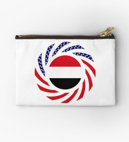 Yemeni American Multinational Patriot Flag Series Zipper Pouch