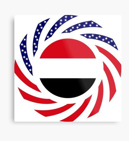 Yemeni American Multinational Patriot Flag Series Metal Print