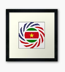 Surinamese American Multinational Patriot Flag Series Framed Print