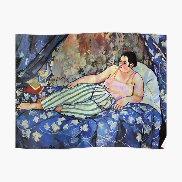 Vintage  Suzanne Valadon 1923 - The Blue Room Fine Art Poster
