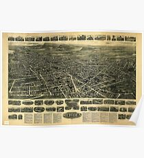 Aerial View of Meriden, Connecticut (1918) Poster