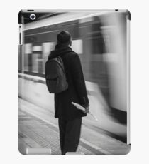 Passanger waiting for the metro iPad Case/Skin