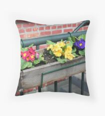 """Flower Box"" Throw Pillow"