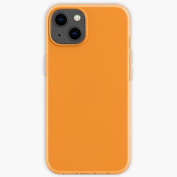 Plain Orange iPhone Soft Case
