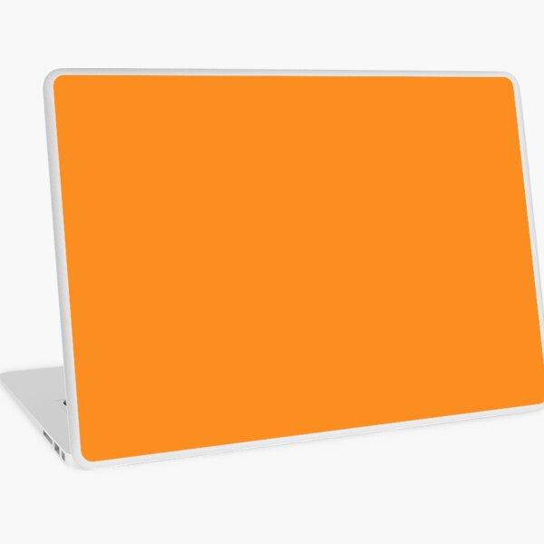 Plain Orange Laptop Skin