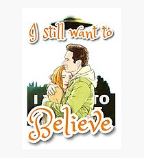XF I still want to believe by Mimie Photographic Print