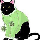 Black Cat in Hoodie  by KingSelenus