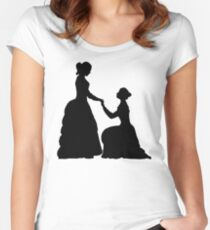 a decent proposal Women's Fitted Scoop T-Shirt