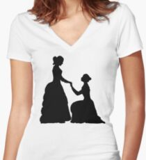 a decent proposal Women's Fitted V-Neck T-Shirt